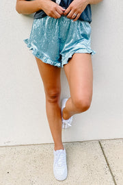 Shorts - The Velvet Elvis Shorts In Powder Blue