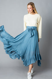 Skirts - The Coco Skirt In Dusty Blue