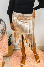 Skirts - The Danae Sequin Skirt - Worthy Figures Collection