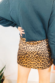 Skirts - The Jameela Leopard Mini Skirt - Worthy Figures Collection