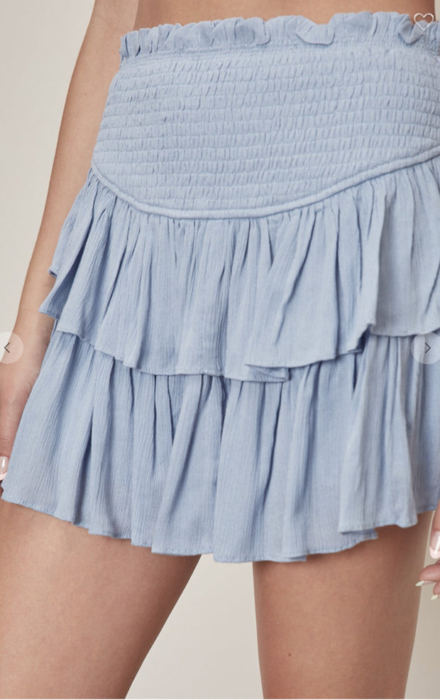 Skirts - The Lila Skort In Dusty Blue