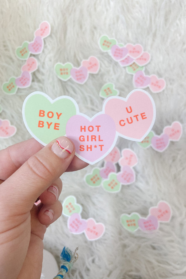 Stickers - Hot Girl Sh*t Conversation Hearts Sticker
