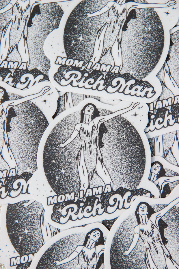 Stickers - Mom, I Am A Rich Man Sticker