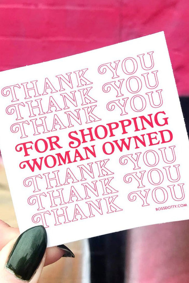 Stickers - Women Owned Sticker