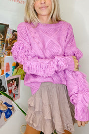 Sweater - The Beatrice Sweater In Electric Orchid