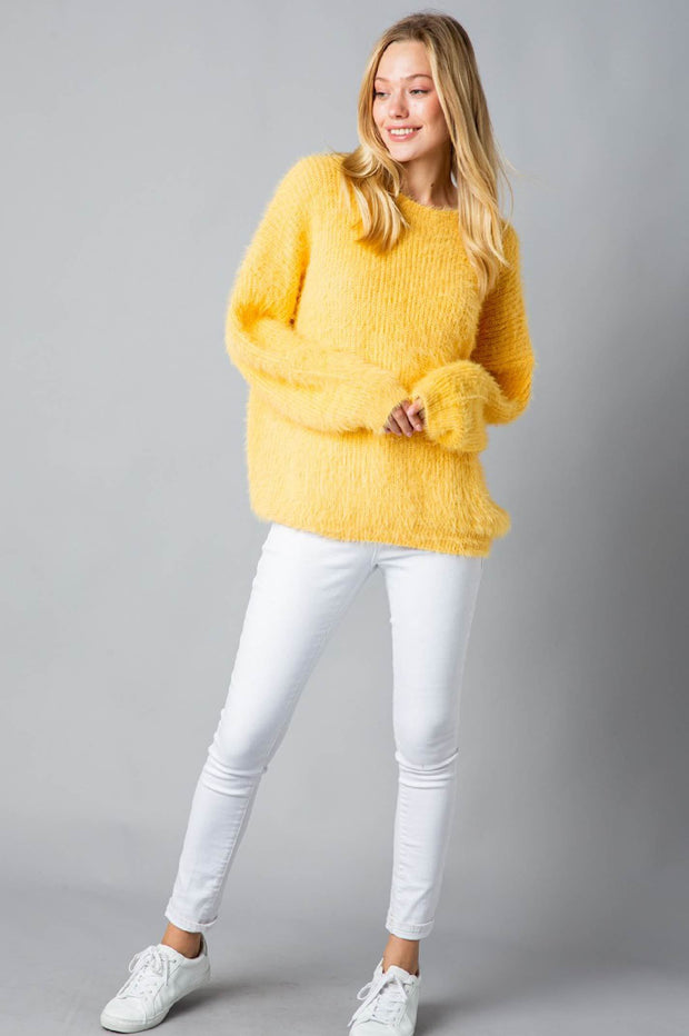 Sweater - The Bethany Sweater In Yellow
