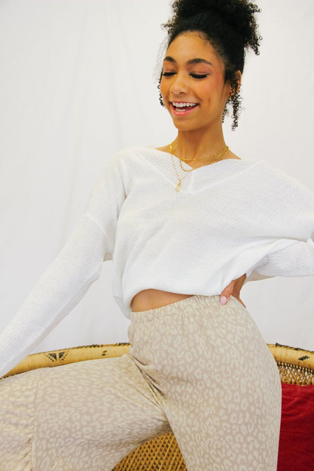 Sweater - The Daisy Sweater In Ivory
