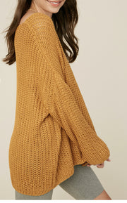 Sweater - The Dean Sweater In Mustard