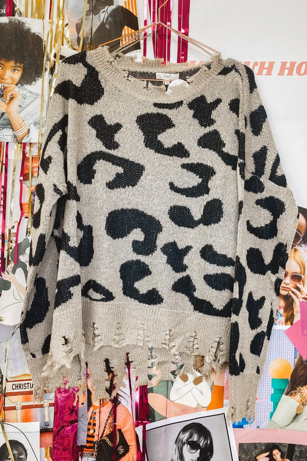 Sweater - The Edie Leopard Sweater