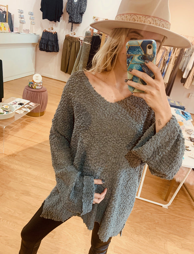 Sweater - The Julie Sweater In Stone