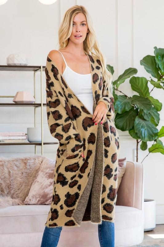 Sweater - The Kellen Leopard Cardigan
