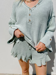 Sweater - The Lacey Sweater In Mint