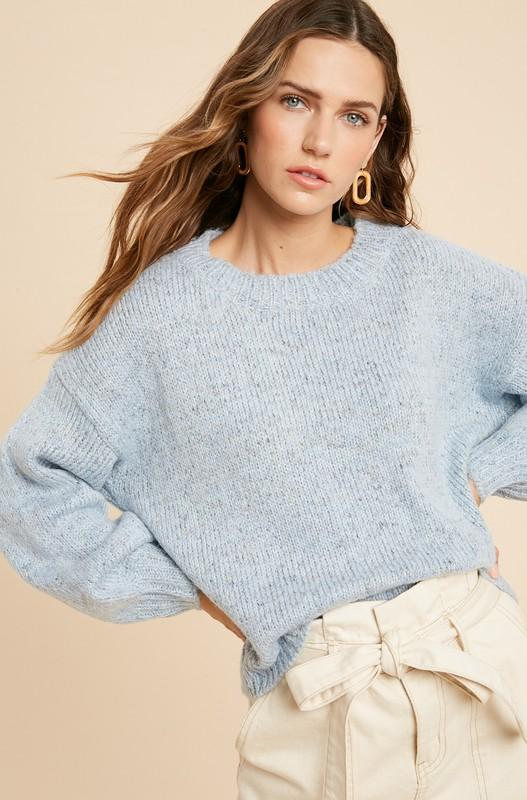 Sweater - The Marjorie Sweater In Sky Blue