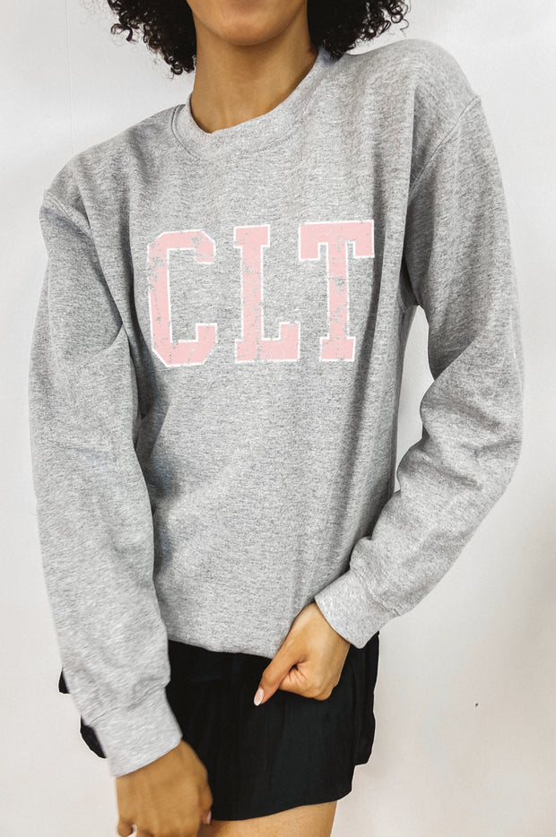 Sweatshirt - CLT Sweatshirt In Gray