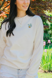 Sweatshirt - Embroidered Plant Sweatshirt