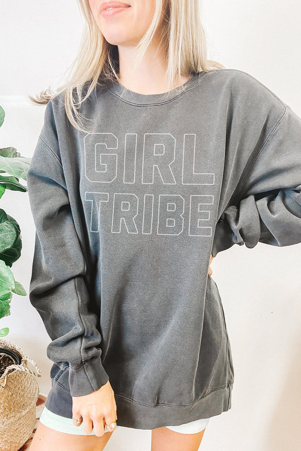 Sweatshirt - Girl Tribe Block Sweatshirt