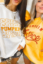 Sweatshirt - Pumpkin Spice Sweatshirt In White