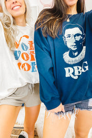 Sweatshirt - RBG Sweatshirt In Navy