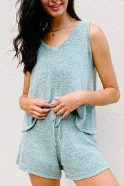 Sweatshirt - The Lane Knit Sweatset In Sage