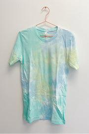 T-Shirt - Cotton Candy Tie Dye Tee In Lemon Lime