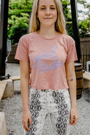 T-Shirt - Girl Tribe Cropped Pink Tee