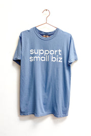 T-Shirt - Support Small Biz Tee In Denim Blue (Unisex)