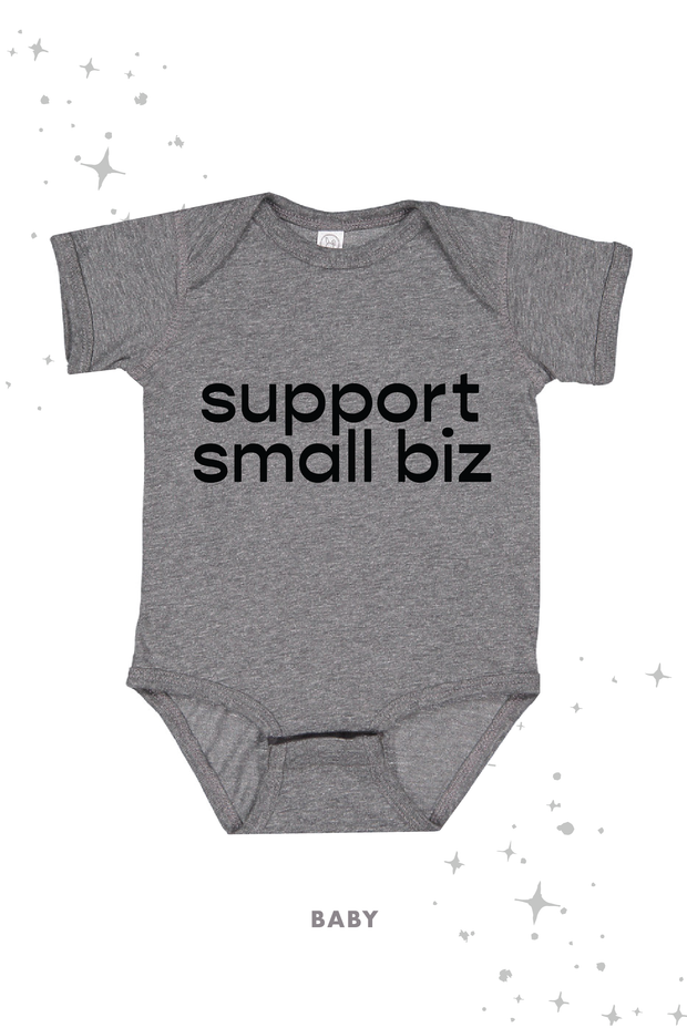 T-Shirt - Support Small Biz Tee In Washed Gray (Unisex) (4521393553462)