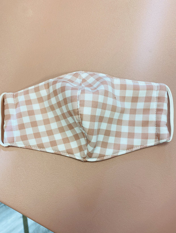 Unclassified - Face Mask - Blush Gingham *FINAL SALE*