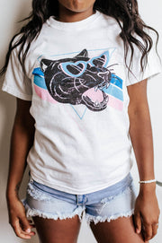 Vintage - Heart Eyes Panther Girlfriend Fit Tee