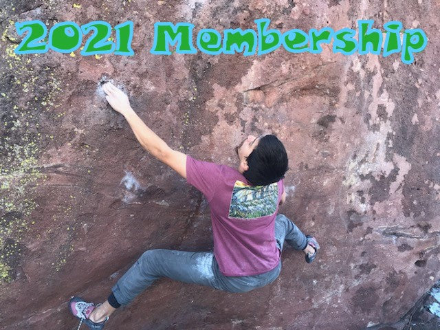 Gift Membership with T-Shirt & Local Climbing Organization