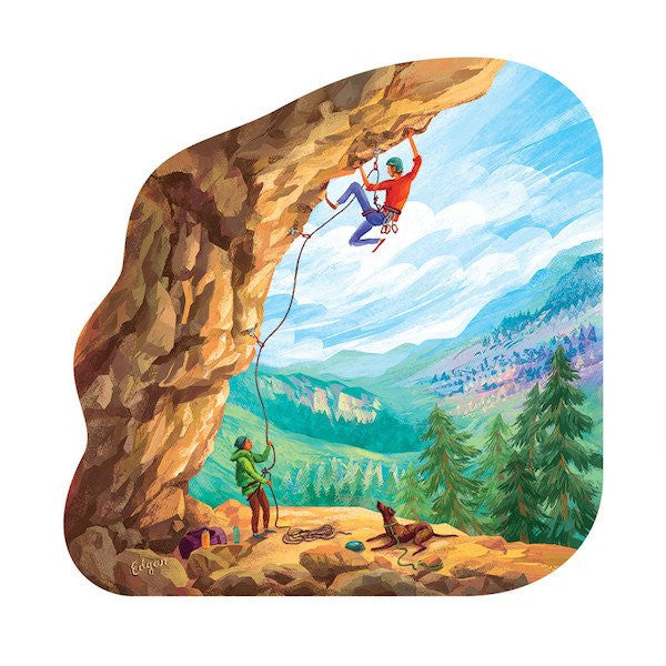 Overhung Rock Climbing Sticker