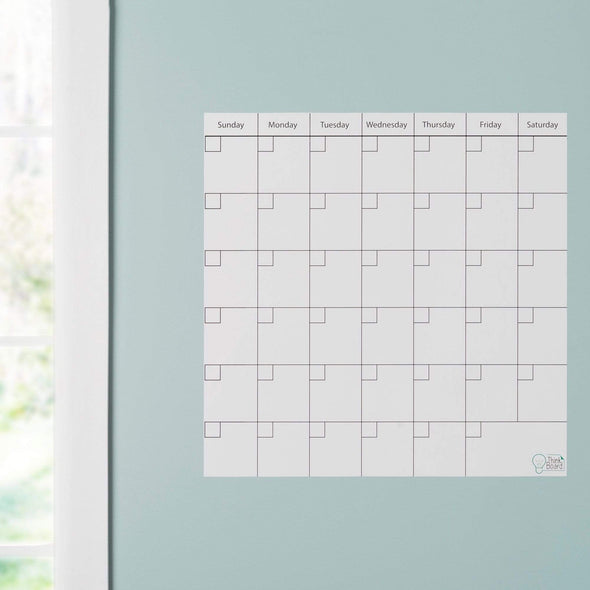 "Think Board 14"" x 14"" / White Think Board Calendar Think Board"