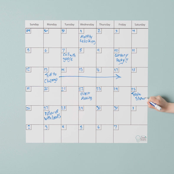 "Think Board 24"" x 24"" / White Think Board Calendar Think Board"