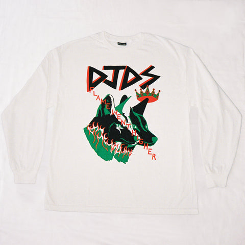 DJDS x COME TEES LONG SLEEVE (WHITE)