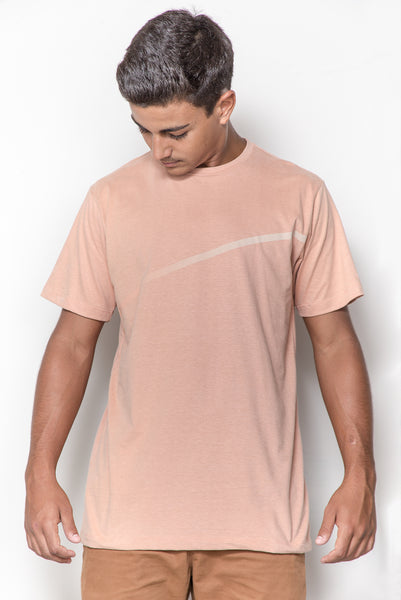 T-shirt Estampada Diagonal Rosa