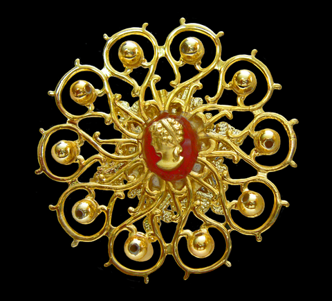 Golden Brooch Jewelry