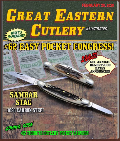 "Great Eastern Cutlery 620220 Northfield  Sambar Stag Easy Pocket Congress. ""STORE KNIFE"""