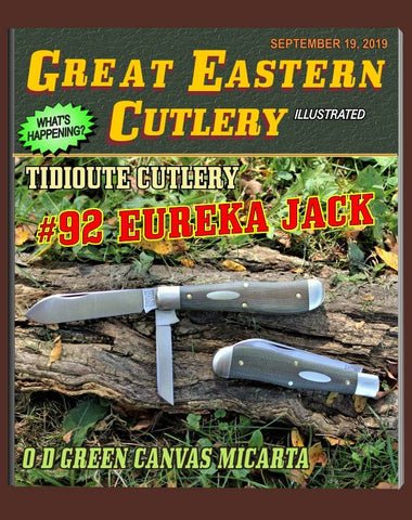 Great Eastern 922219 Tidioute OD Green Canvas Micarta Eureka Jack.