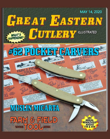 Great Eastern 620320 Farm & Field Muslin Micarta Pocket Carver.  STORE KNIFE.