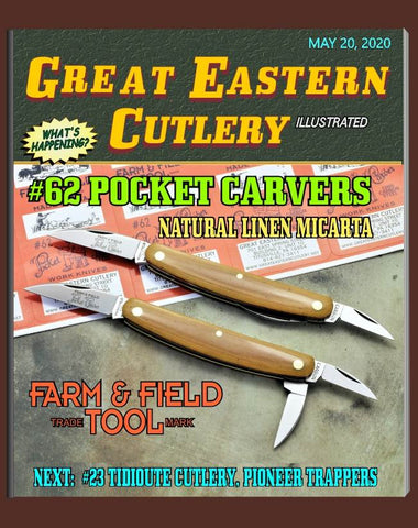 "Great Eastern Cutlery #620320 Natural Linen Micarta Pocket Carver.  ""STORE"" KNIFE."