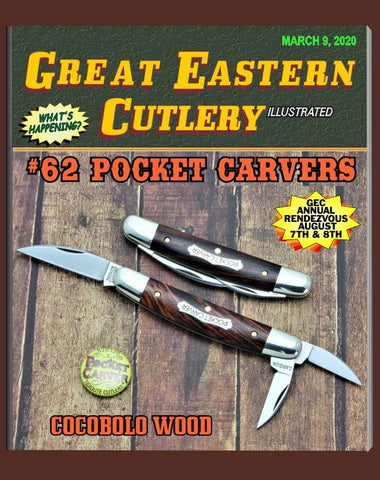 Great Eastern Cutlery 620320 Tidioute Cocobolo Wood Pocket Carver