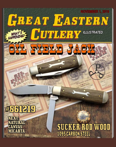 Great Eastern #861219 Tidioute Sucker Rod Wood Oil Field Jack Knife.