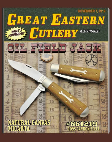 Great Eastern #861219 Tidioute Natural Canvas Micarta Oil Field Jack Knife.