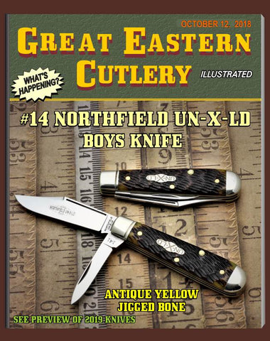 Great Eastern Northfield 141218 Antique Yellow Jig Bone Boys Knife