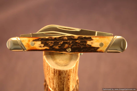 Tuna Valley Cutlery Burnt Stag Carpenter Whittler. #473