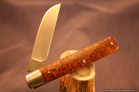 Todd Davison Afzelia Lay Wood Scales Folder. #1509