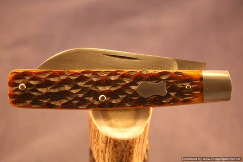 Todd Davison Custom Brown Jig Bone Folder...Special Jigging...Gorgeous.   #1517