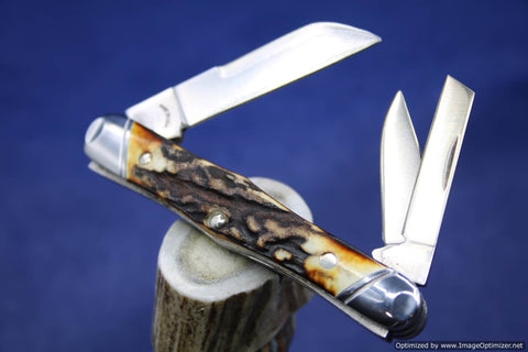 Tuna Valley Cutlery Burnt Stag Carpenter Whittler. #557