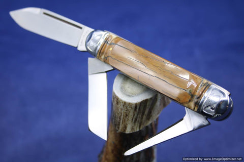 Tuna Valley Cutlery Mammoth Bark Ivory Cattleman.   #531