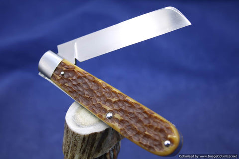 Todd Davison Jig Bone Slip Joint Knife.   #1605